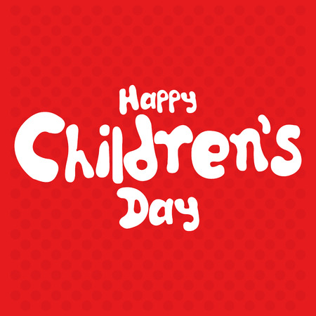 childrens day: a red background with text for childrens day