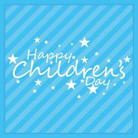 childrens day: a blue background with text for childrens day