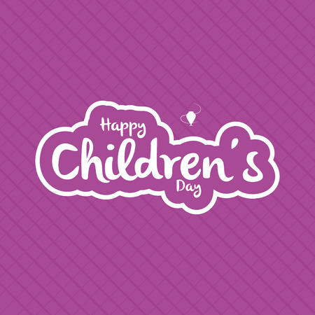 childrens day: a purple background with text for childrens day