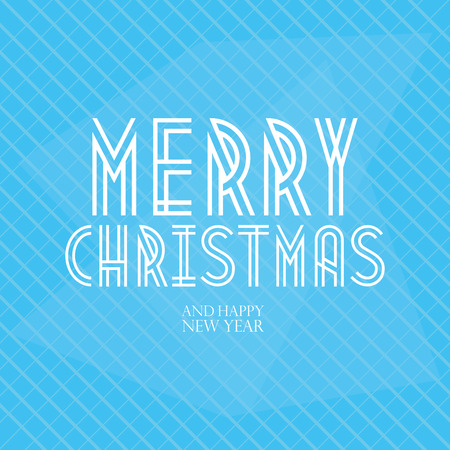 a holiday gift: a blue background with text for christmas and new year
