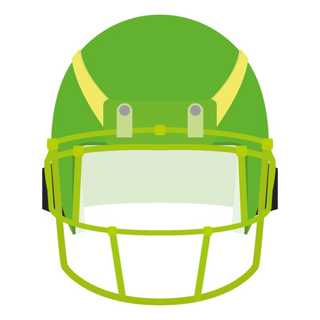protection gear: an isolated green football helm on a white background