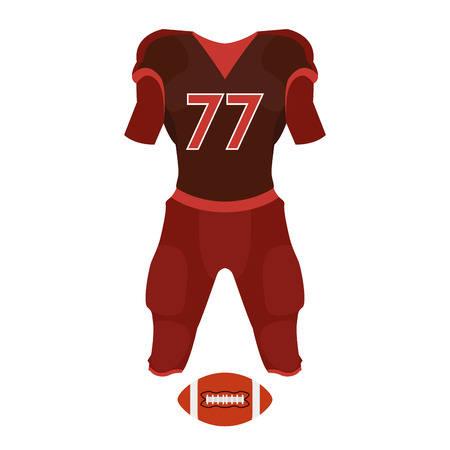 brown shirt: a red football uniform on a white background Illustration