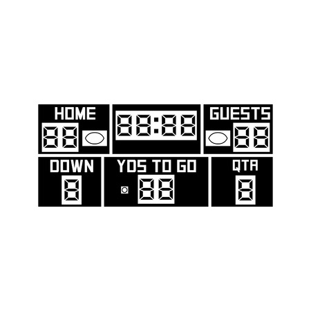 score board: an isolated score board on a white background