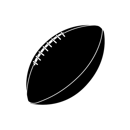 rugby football: an isolated football ball on a white background Illustration