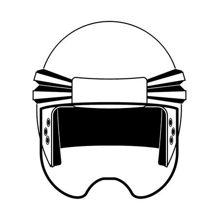 roer: een geïsoleerd voetbal helm op een witte achtergrond Stock Illustratie