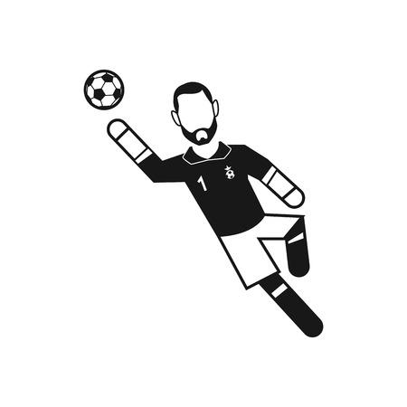 goalkeeper: an isolated goalkeeper on a white background
