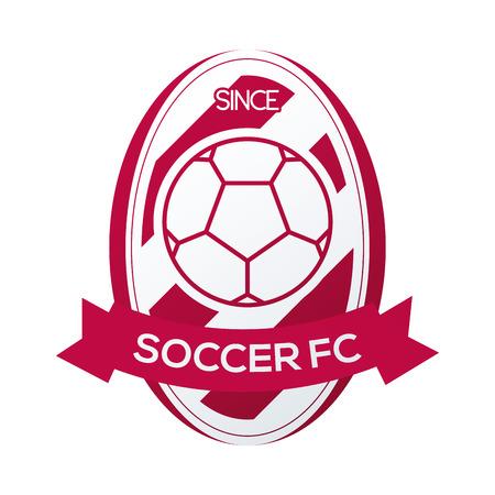un emblème de football isolé sur un fond blanc Vecteurs