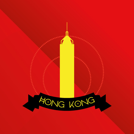 plaza: a red background with the silhouette of the central plaza building Illustration