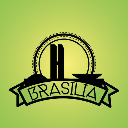 congress: an isolated label with the silhouette of the national congress in brazil