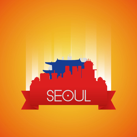 seoul: an isolated cityscape with the chongdeokgung palace in seoul