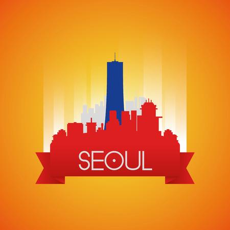 seoul: un paysage isol� avec le b�timent 63 � S�oul