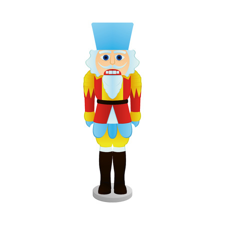 nutcracker: an isolated nutcracker soldier on a white background