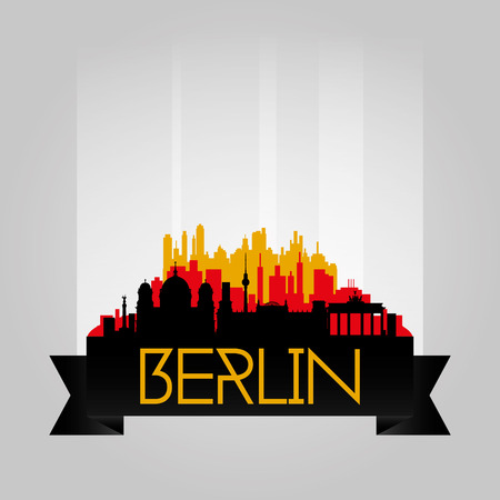 winning location: an isolated cityscape of berlin with a lot of monuments