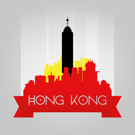 incredible: an isolated cityscape of hong kong with the center building