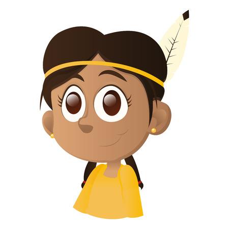 ni�os de diferentes razas: una ni�a feliz aislada con ojos marrones sobre un fondo blanco