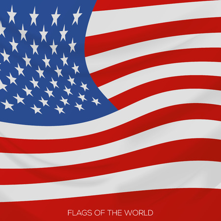 visions of america: vector illustration of a close up view on the north american flag Illustration