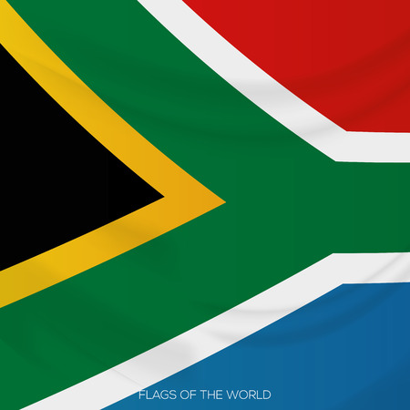 south african flag: vector illustration of a close up view on the south african flag