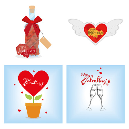 a set of backgrounds with hearts and different elements for valentines day Vector