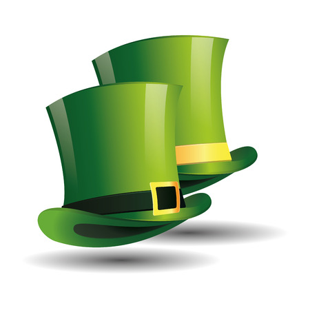 a pair of traditional hats for patricks day Vector