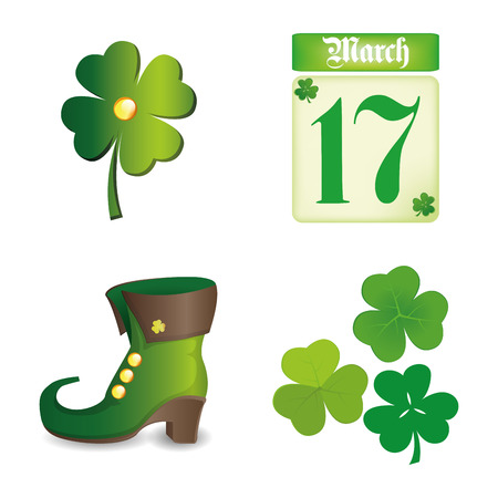 the irish image collection: a set of different traditional elements for patricks day