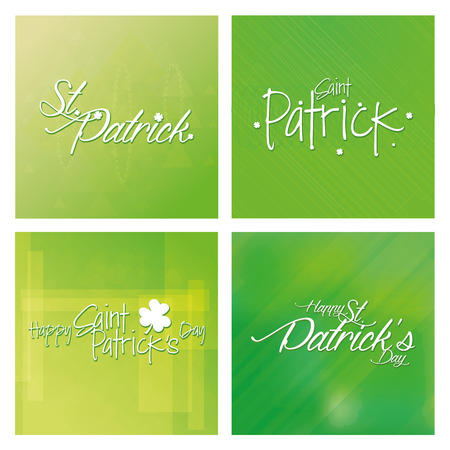 a set of green textured backgrounds with text for patricks day