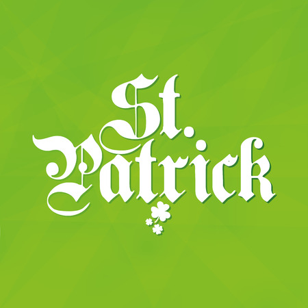 a green textured background with text for patricks day Vector