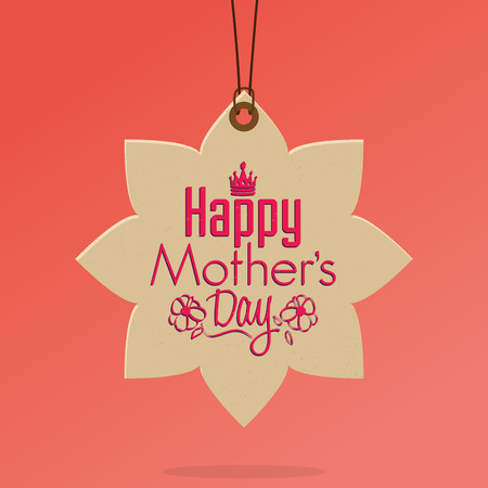 happy birth day: Isolated label for mothers day. Vector illustration Illustration