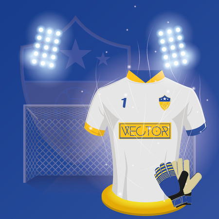 keep clean: Colored background with a lot of soccer elements. Vector illustration Illustration