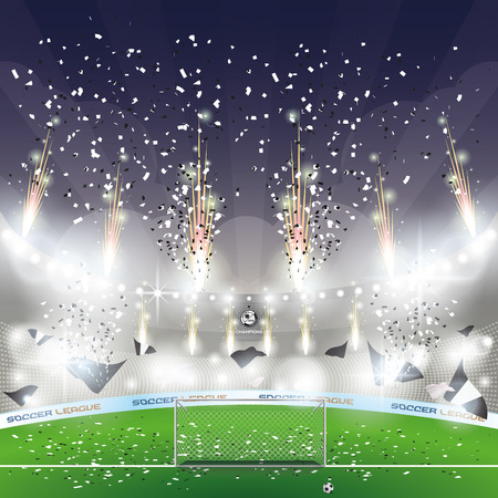 soccer stadium: Beautiful view of a celebration in a soccer stadium