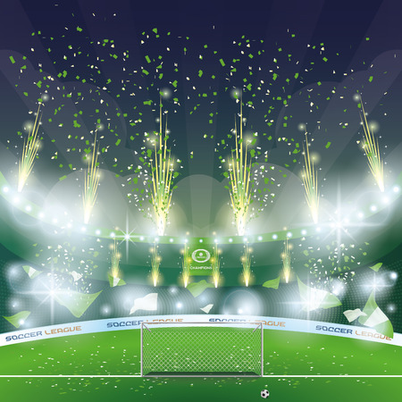 football stadium: Beautiful view of a celebration in a soccer stadium