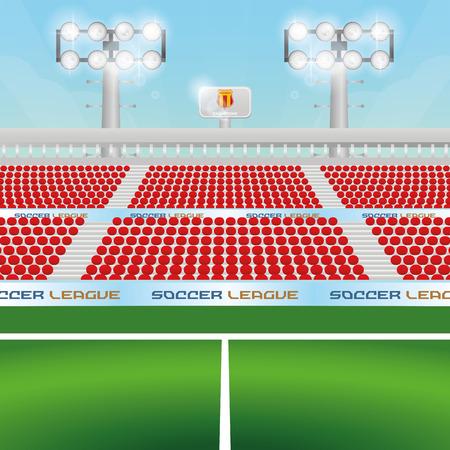 soccer stadium: Beautiful view of a soccer stadium. Vector illustration