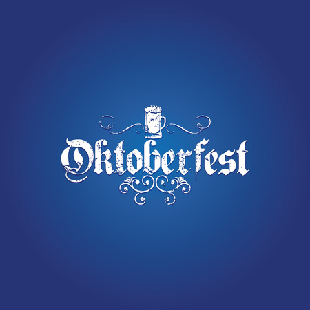 german tradition: Colored background with text and a pattern for oktoberfest