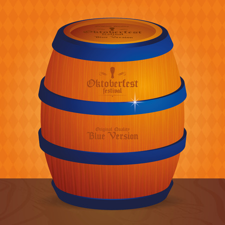 alphabet beer: Isolated beer barrel on a textured background for oktoberfest