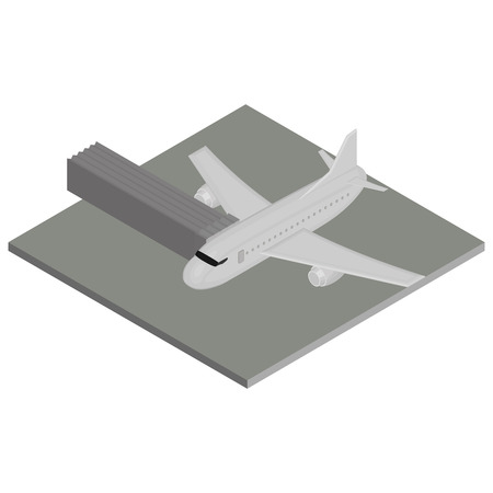 airplane mode: Isolated environment with an airplane and an airport