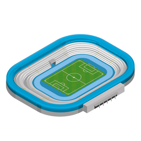 soccer field stadium: Isolated sport stadium on a white background