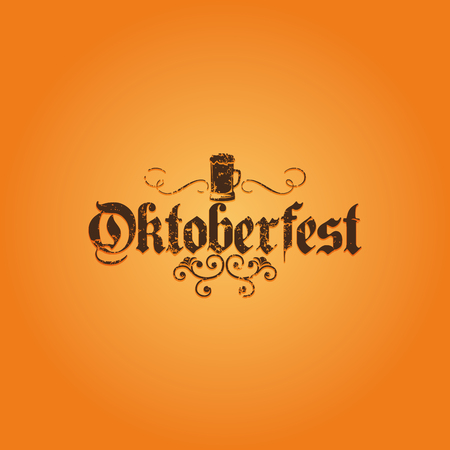text background: Colored background with text and a pattern for oktoberfest