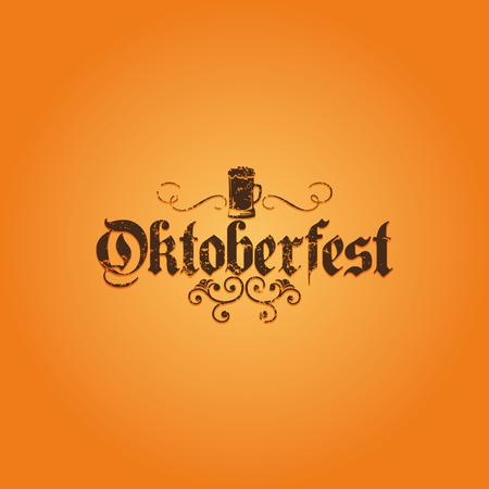 fond de texte: Fond de couleur avec le texte et un modèle pour l'Oktoberfest
