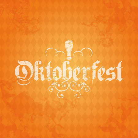 Colored background with text and a pattern for oktoberfest