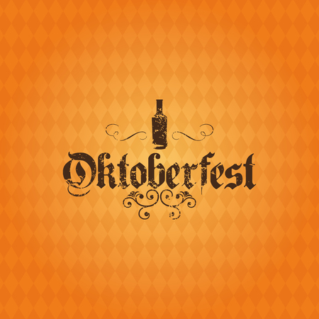alphabet beer: Colored background with text and a pattern for oktoberfest