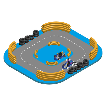 kart: Isolated environment with a kart and a racetrack