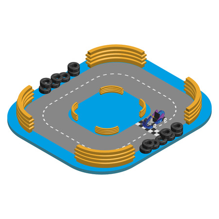 racetrack: Isolated environment with a kart and a racetrack