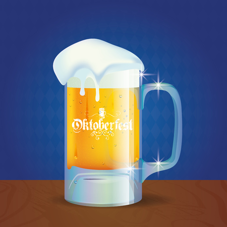 german tradition: Isolated beer mug on a textured background for oktoberfest