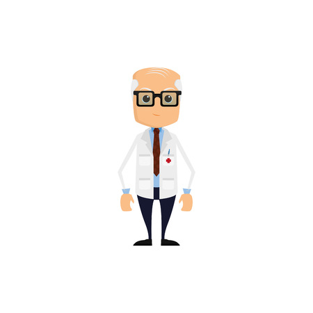 medic: Isolated male medic on a white background
