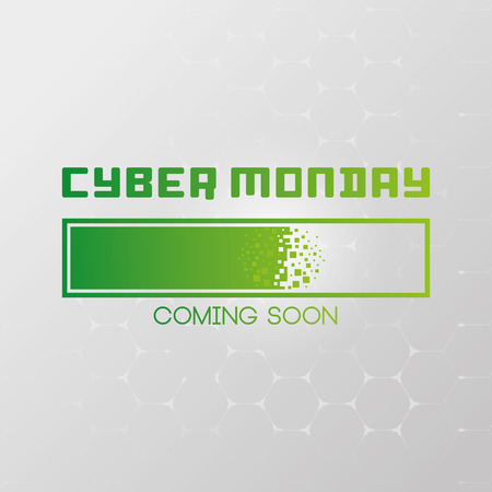 advertising text: Colored background with text for cyber monday sales