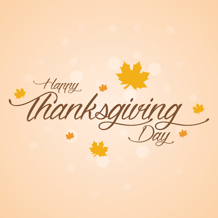 Colored background with text for thanksgiving day