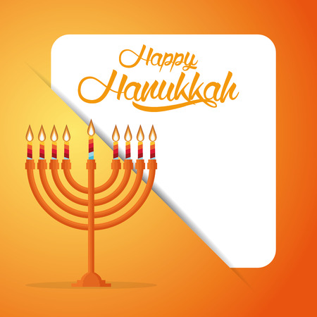 hanukah: Colored background with text and traditional elements for hanukkah celebrations Illustration