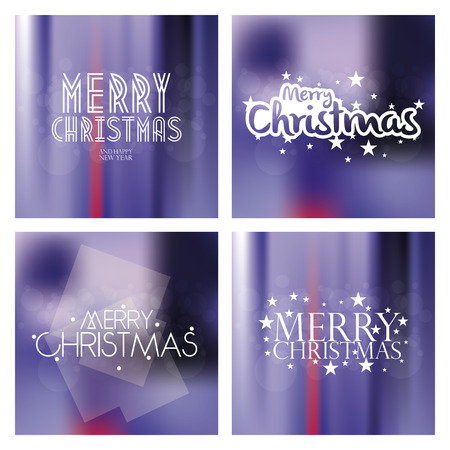 christmas backgrounds: Set of colored backgrounds with text for christmas celebrations Illustration