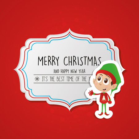 christmas banner: Isolated banner with text and on a colored background Illustration