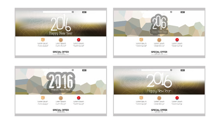 end user: Set of colored web templates with a new year theme Illustration