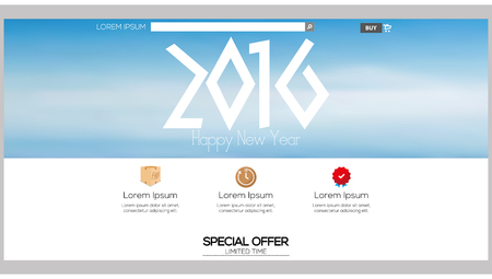 end user: Colored web template with a new year theme
